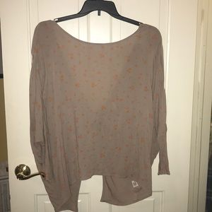 Free people open back shirt